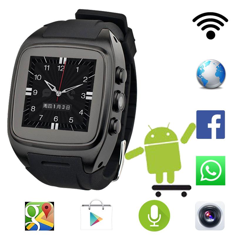 Prix pour 2016 Chaude X01 android 5.1 OS Smart watch téléphone soutien 3G wifi SIM WCDMA bluetooth 1.3 GHz Dual Core 4G ROM Smartwatch avec caméra
