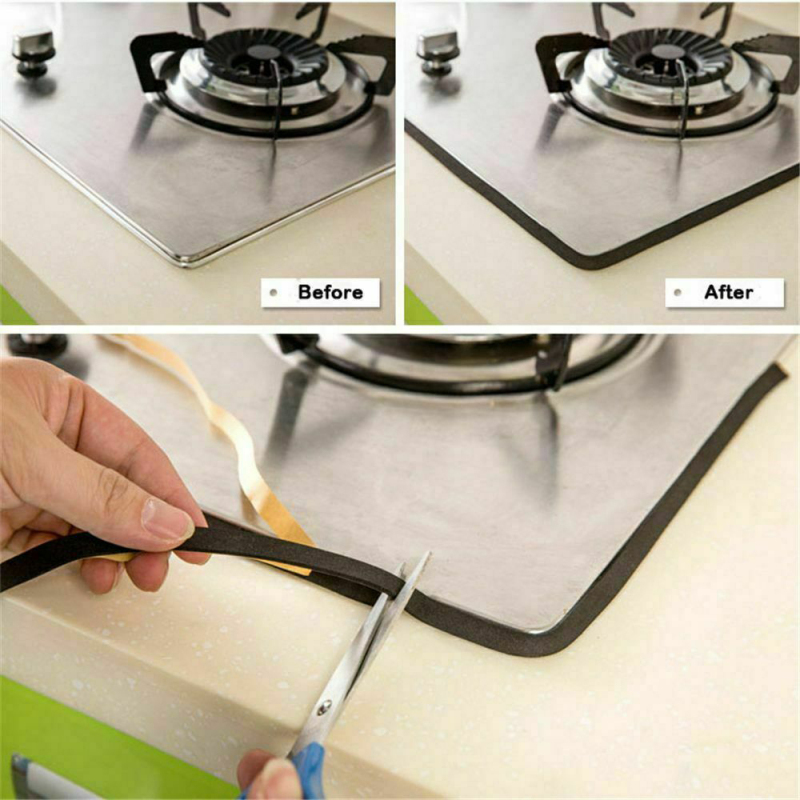 2M Super Self-adhesive Tape Antifouling Waterproof Dustproof Tapes Sealing Gas Stove Household Tape For Window Slit Kitchen Sink