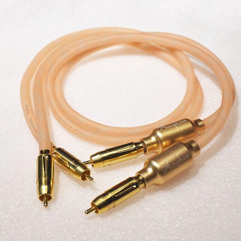 Hifi audio paire Audiophile argent plaqué + pur cuivre RCA câble d'interconnexion