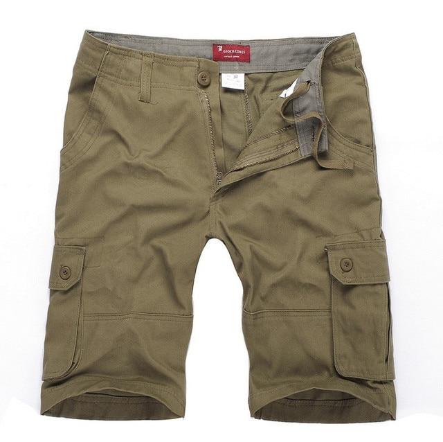 High Quality 6XL Men Short 117CM Loose Men Shorts   2016 New Casual Military Cargo Shorts Men Casual 5 Colors Free Shipping