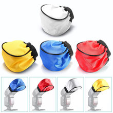 Neewer Universal 4 Color Flash Diffuser Cloth 5x3.5x0.8in/12x9x2cm Blue Red Yellow White for Cannon/Nikon/Neewer/Yongnuo Flashes(China)