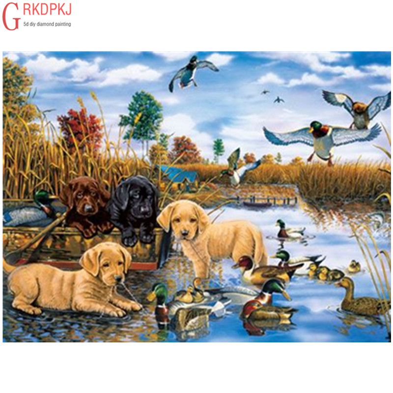 Ambitious Full 5d Diy Diamond Embroidery Animal Dog Diamond Painting Cross Stitch Embroidery Crafts Decoration Gift Diamond Painting Cross Stitch Arts,crafts & Sewing