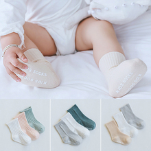 3PSC Solid color baby socks Cotton Fashion Cute Unisex Baby Newborn Fresh Candy Color infant Socks 0-5 year