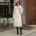 Mulheres parka inverno amassado casaco longo X-mais grosso casaco de algodão acolchoado, plus size 5XL inverno quente parka moda outerwear TT762