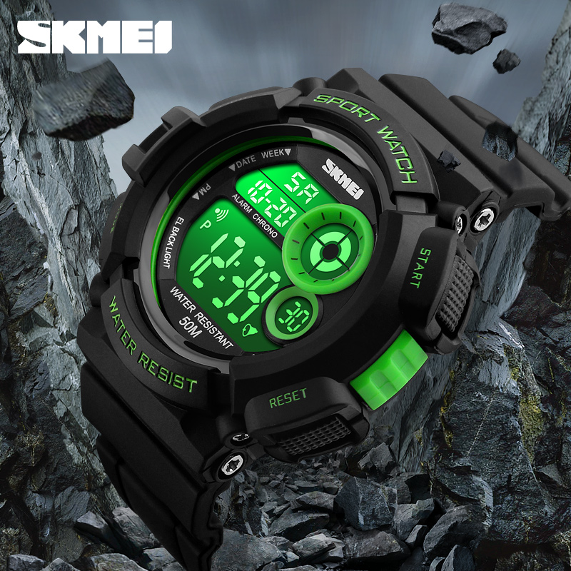 New Brand SKMEI Fashion Watch Men G Style Waterproof Sports Military Watches Shock Resistant Men's Luxury LED Digital Watch 2017 fashion 50m waterproof led sports electronicwatches men luxury brand watch s shock silicone digital wristwatch saat 73 g