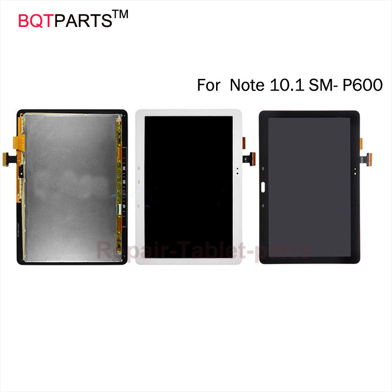 BQTParts For Samsung Galaxy Note 10.1 SM- P600 P601 P605 lcd screen display + Touch Screen Panel Digitizer Assembly Black white 100% brand new lcd digitizer touch screen display assembly for samsung galaxy note 4 n910 n910a n910v n910p n910t black or white
