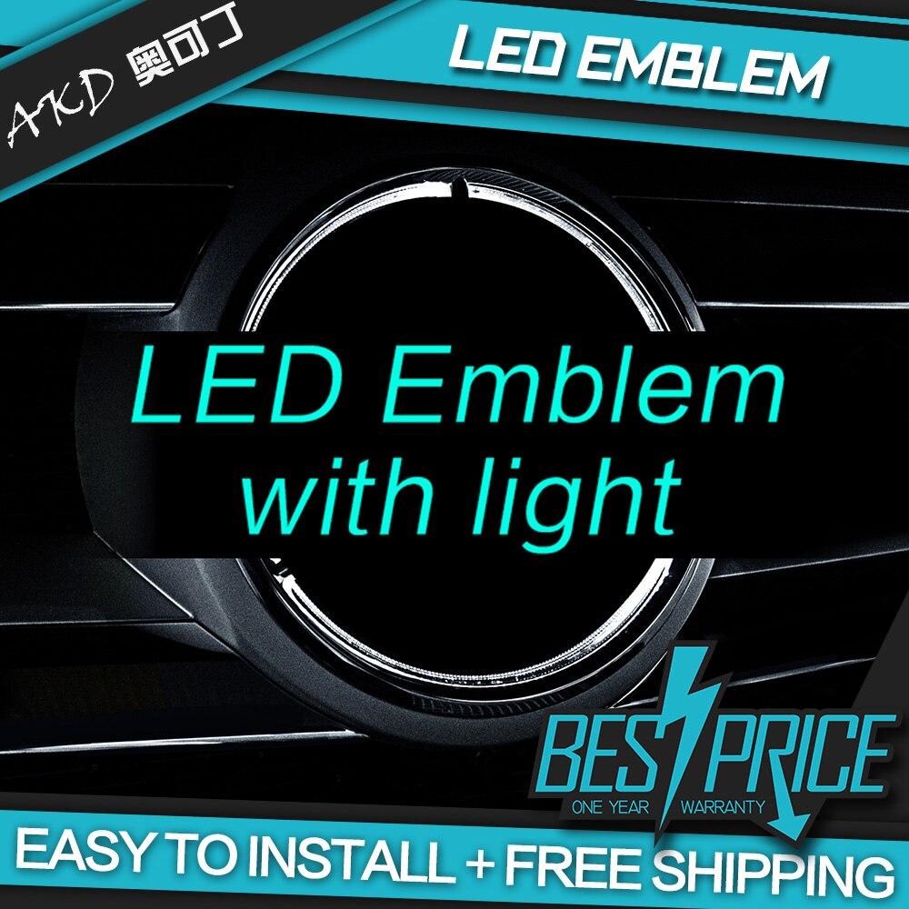 AKD Car LED Emblem for Mercedes Benz GLK Class W204 LED Star Light DRL FRONT GRILLE