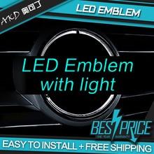 АКД автомобиля светодиодный Эмблема Для Mercedes Benz GLK Class W204 светодиодный свет звезды DRL Передняя Решетка Светодиодный логотип Декоративная подсветка полые гр поверхности