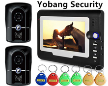 Yobang Security Freeship 7″ Video Intercom Camera With RFID Keypad access control Home Security Doorbell system door bell phone