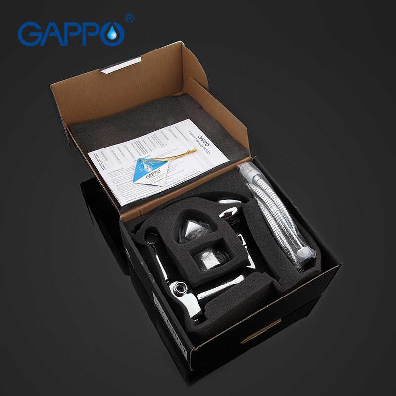 GAPPO 1 เซ็ตอ่างอาบน้ำก๊อกน้ำก๊อกน้ำห้องน้ำอ่างล้างหน้าก๊อกน้ำทองเหลืองน้ำตก torneira ผสมอ่างอาบน้ำอ่างล้างจานแตะมือ showerGA3011