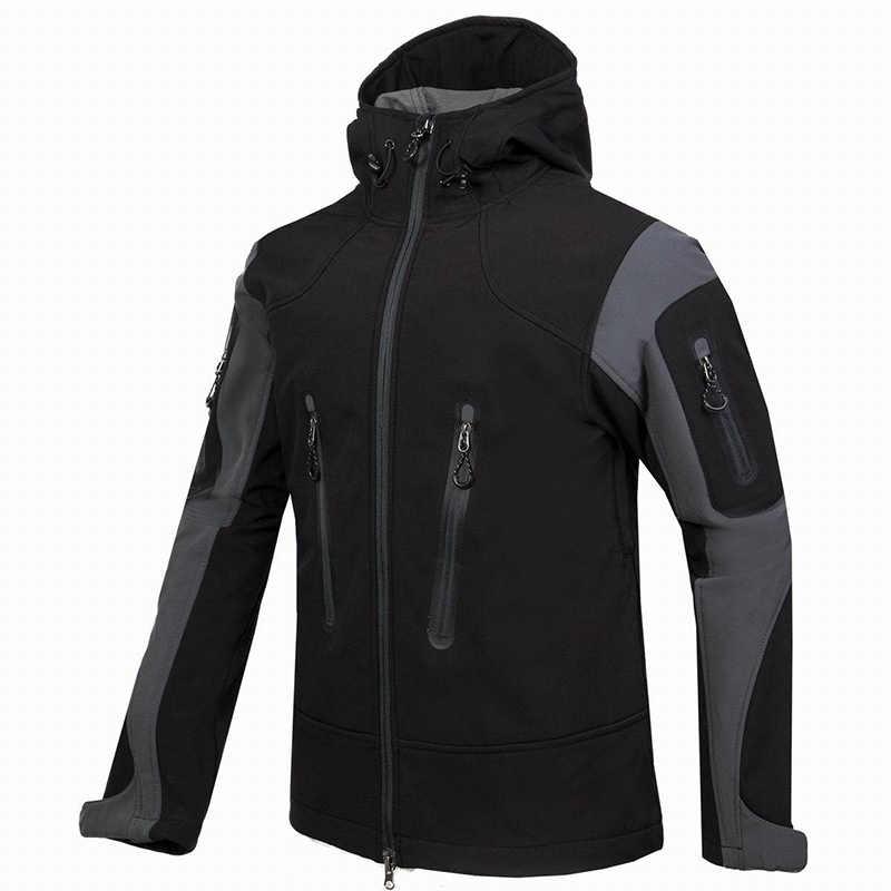 Dostosuj LOGO wodoodporna wspinaczka górska odzież górska ciepła polarowa kurtka Softshell mężczyźni wędkarstwo polowanie odzież narciarska
