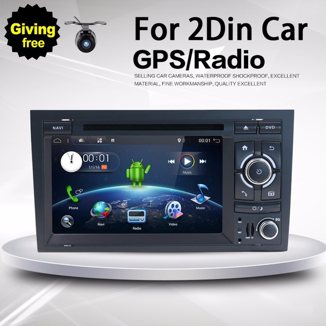 Double Din Car Stereo, in Dash Audio with GPS Navigation System for Audi A4 2003-2011,7' Muti-Touch Capacitive with Android 7.1