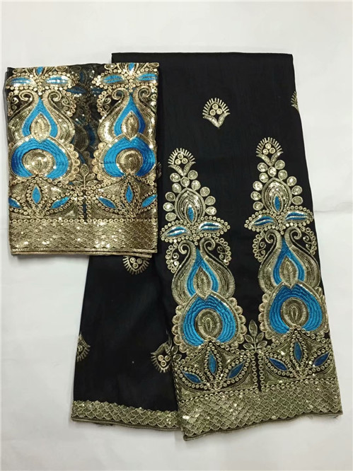 African Indian raw silk Georges Fabrics African George Fabric High Quality Nigerian Georges Lace wrappers for party dress b5 22