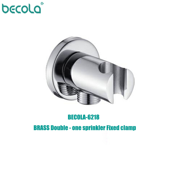BECOLA Brass Wall Mounted Hand Held Shower Holder Shower Bracket & Hose Connector Wall Elbow Unit Spout Water Inlet Angle Valve