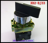 4Pcs/Lot BJ33 XB2-BJ33 ON-OFF-ON 2NO Twist 3 Position Select Selector Switch