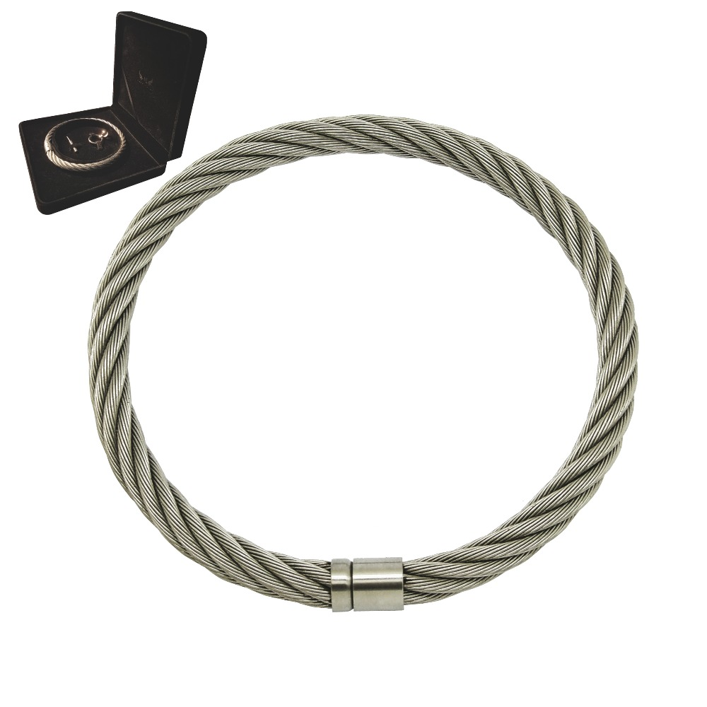 stainless steel wirerope wire line torque choker slave collar necklace woman jewelry
