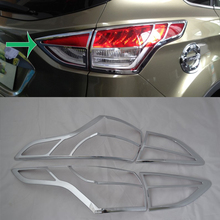 цена на Car Accessories Exterior Decoration ABS Chrome Rear Tail Light Lamp Cover Trim For Ford Kuga/Escape 2013 Car-styling