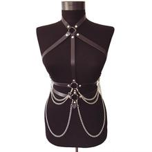Harness Sexy Underwear Chain Belt Jartiyer Belts For Women Fantazi Seks Pastel Goth Suspenders Arnes Mujer Lingerie Femme