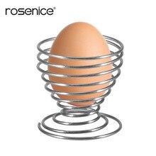 ROSENICE 1 шт. держатель для вареных яиц стойка Stainelss стальная пружинная проволока лоток Подставка для яйца кухонная утварь