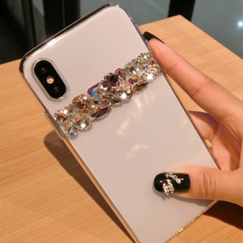 For iPhone XS Max XR X 8 7 6 6S Plus Case Luxury Bling Rhinestone Diamond Crystal Soft Transparent TPU Cover For iPhone XR Case