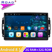 2 Din Android 8.1 Car Media Player GPS Navigation For Jeep Grand Cherokee Patriot Dodge Charger Chrysler 300C Car Stereo Player
