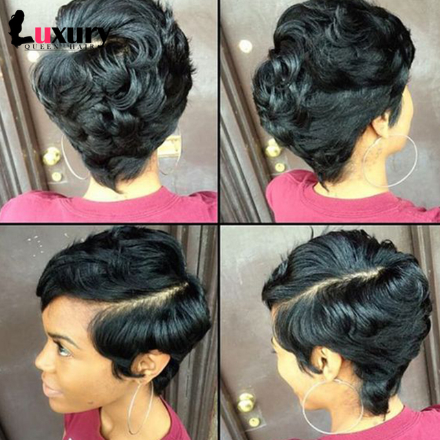 27 Pieces Short Human Hair Weave With Free Closure Brazilian Virgin