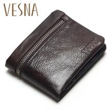 TAUREN Classic Genuine Leather Mens Wallets Brand Zipper Design Short Men Purse Male Clutch With Card Holder Coins Purses Wallet цены