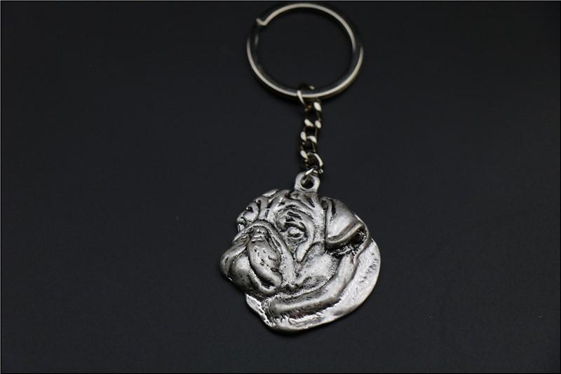 Брелок в форме мопса ювелирное изделие популярная собачья цепочка