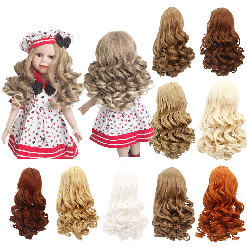 LIMPOPO American girl doll wig Roman curly hair head circumference 25-28cm multicolor can be customized Handmade Doll Hair SD все цены