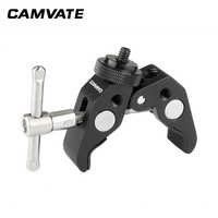 """CAMVATE Multifunctional Super Crab Clamp With Double-ended 1/4""""-20 Male Thumbscrew Adapter C2057"""