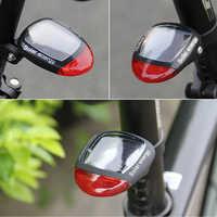 Luz trasera LED intermitente trasero alimentada por energía Solar para bicicleta lámpara de advertencia de seguridad luz intermitente luz bicicleta