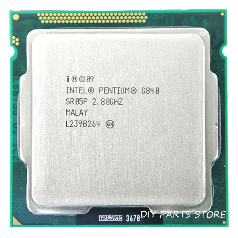 Processeur Intel Pentium G840 Socket LGA 1155 processeur intel G840 CPU 2.8 GHz 3 mo de Cache
