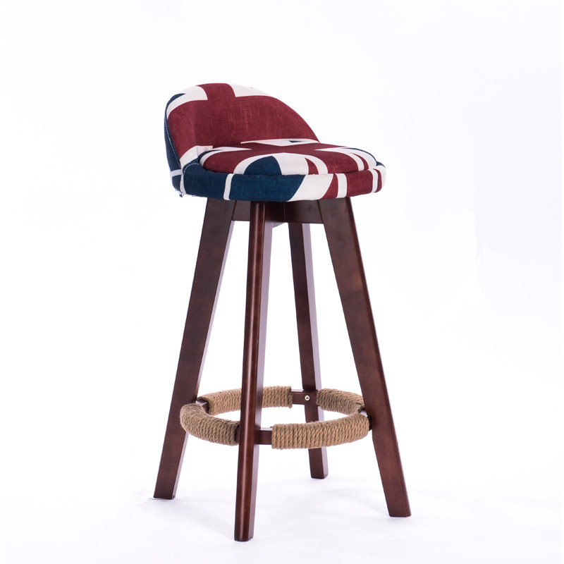 Giratorio taburete silla con asiento y respaldo tapizados caoba ...