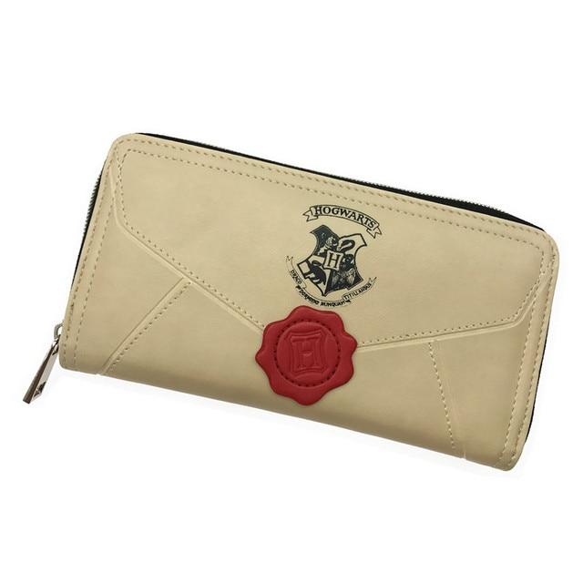 2017 Vintage Harry Potter Letter Long Wallet Brand Design High Quality Female Round Zipper Fashion Long Purse Card Holder