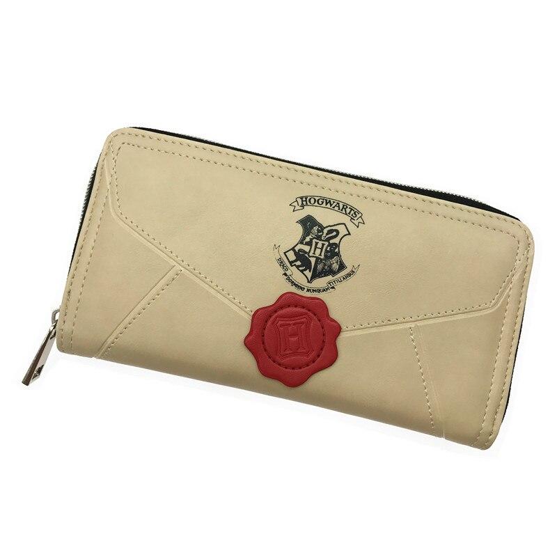 Vintage Harry Potter Brief Lange Brieftasche Marke Qualität Weibliche Runde Reißverschluss Mode Lange Geldbörse Kartenhalter