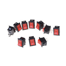 Zlinkj Baru Praktis 10 Pcs/lot Merah 15*21 Mm SPST 2PIN On/Off G125 Perahu Rocker Switch 250V 6A Mobil Dash Dashboard Truk RV ATV(China)