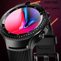 Двойная HD камера 5MP + 5MP Android умные часы gps трекер Smartwatch сердечного ритма умные спортивные наручные часы pk amazfit bip smartwatch