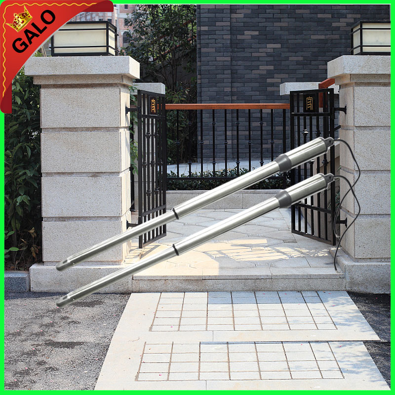 GALO Electronic automatic Swing Gate Opener Motor max single-leaf weight 200kg Dual Arm 2.5m DC 24v motor for butterfly Gate galo 300 kg double arms swing gate opener door motor kit with 1 pair of photocells 1 alarm light