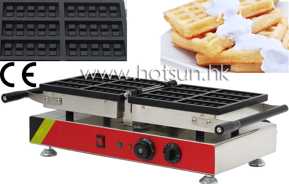Commecial Use Non-stick Turnable 110v 220v Electric 8-Slice Belgian Waffle Baker Maker Machine Iron 110v 220v electric belgian liege waffle baker maker machine iron