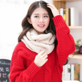 Elegant New 2016 Knitted Winter Scarf Women Warm Ring Fashion Solid Color Tube Scarf Female Ladies Warm Cozy Neck Scarf