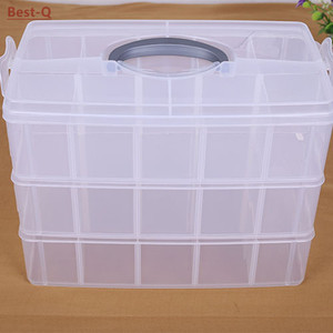 Image 2 - Free shipping 3 layers 30 grid removable storage box in a covered storage box king tights toy Lego plastic storage box