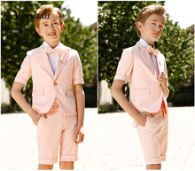 Pink Boys Suits Groom Wedding Tuxedos Page Boy Formal Prom 2 Piece Kids Suits 2 piece 2015 page 9