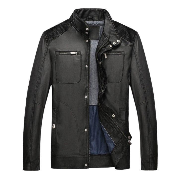 De Patchwork Pu Hombres Casual Cuero Suede Chaqueta Motocicleta Black Y Abrigo gfEpqpwIBR