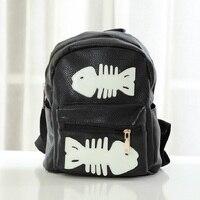 PU leather children school bags fish printing kids travel backpacks mochilas infantil escolar feminina for teenager girls boys
