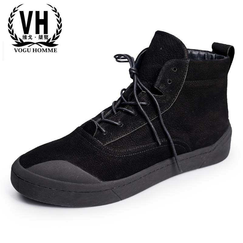 British high fashion leather shoes breathable sneaker fashion boots men casual shoes,handmade fashion 2017 new autumn winter british retro men shoes leather shoes breathable fashion boots men casual shoes handmade fashion comforta