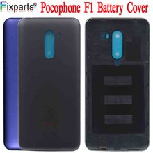 Original New 6.18 Xiaomi Poco F1 Battery Cover Mi Housing MI Pocophone Back Case+Power Side Buttons