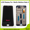 1 unids Meiblue negro Nota 2 LCD Pantalla Táctil Del Digitizador de Cristal Genuino panel de la pantalla 1920x1080 fhd 5.5 ''en stock para meizu m2 note