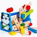 Juguetes paraíso Del Regalo Del Bebé Niño de la Panda Take-Along Kit de Herramientas Herramienta de Tuerca de Desmontaje Juguetes De Madera Educativos De Madera de Juguete Panda regalo
