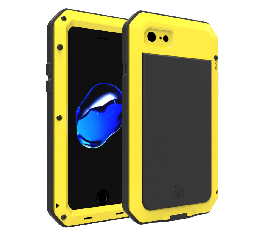 For Apple iPhone 6 7 Plus X 4S 5S SE Case Aluminum Metal Waterproof Shockproof Doom Rugged Armor Cover Cases for iP 6 6S 8 Plus