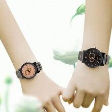 Classic Simple Lovers Couple Watch Fashion Romantic Casual Quartz Women Watches 2 Color